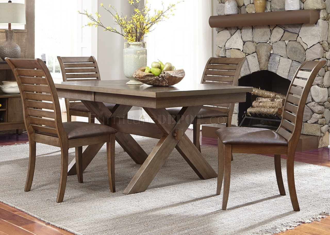 Bayside Crossing Dining Table 5Pc Set 185-CD Chestnut By