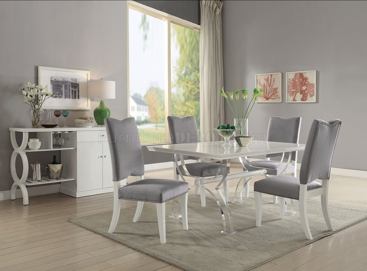 Martinus White High Gloss Dining Table 74720 By Acme W/Options