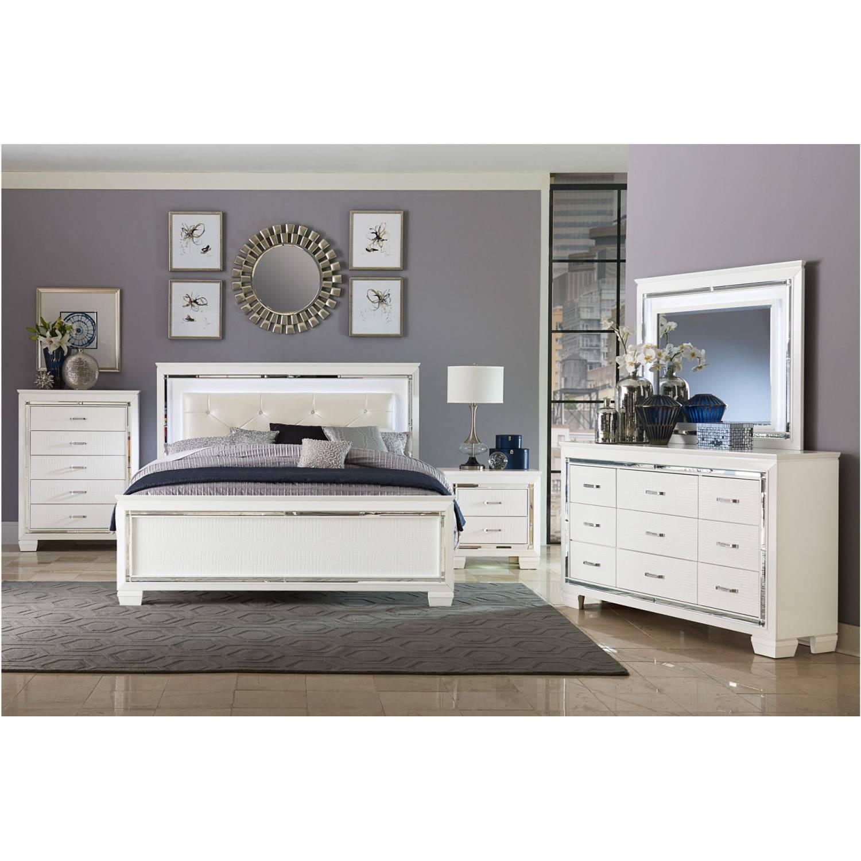 1916kw ckgr allura california king bedroom set white