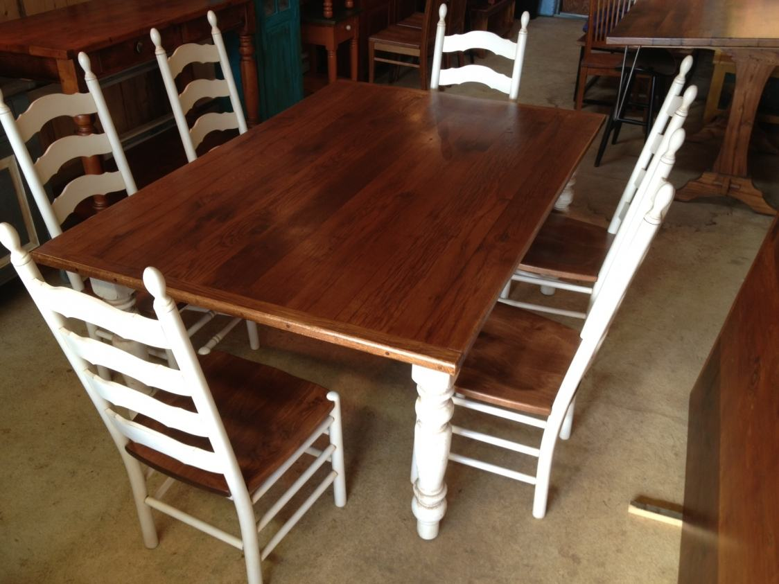 Oak Tables With Painted Legs Furniture From The Barn