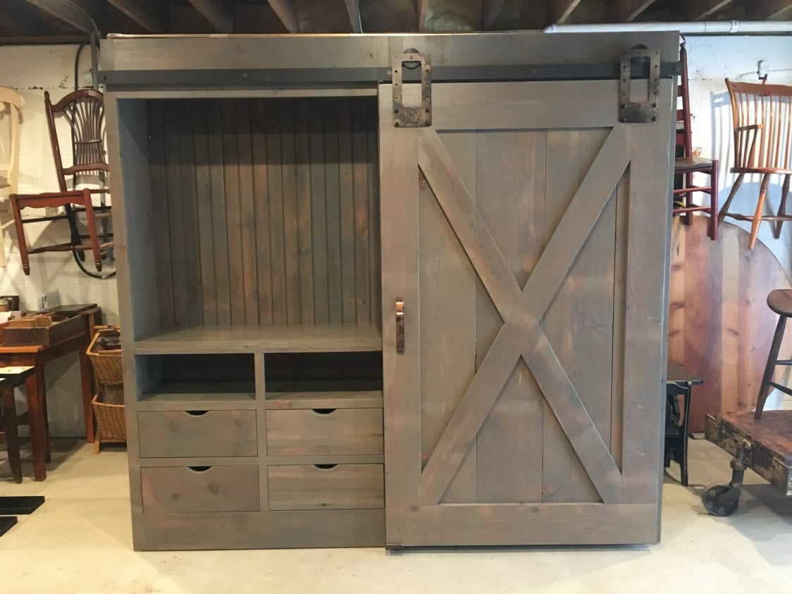 Barn Door Cabinet With One Door Furniture From The Barn
