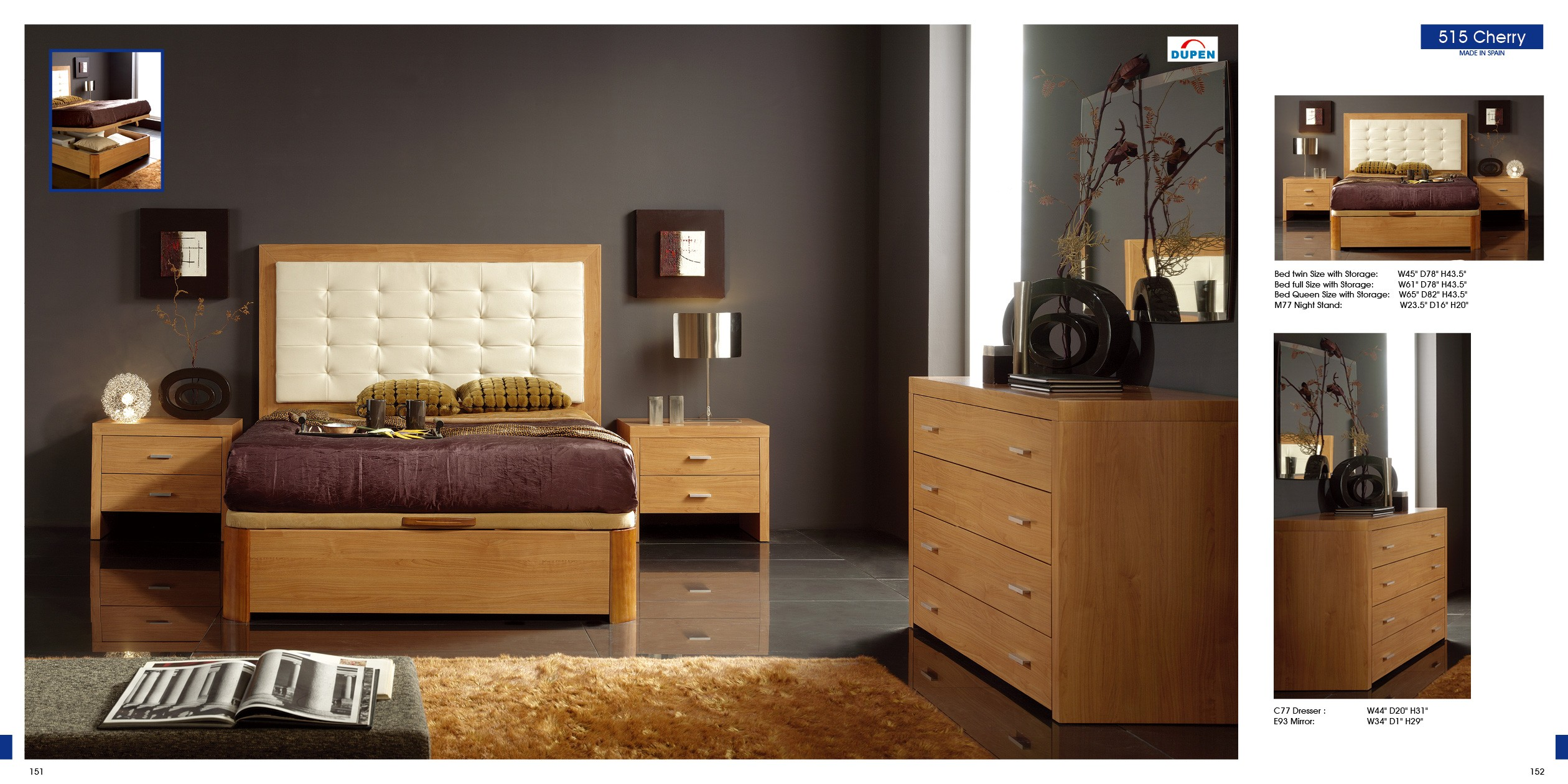 esf twin size beds alicante 515 cherry m77 c77 esf twin size beds bedroom shop by room