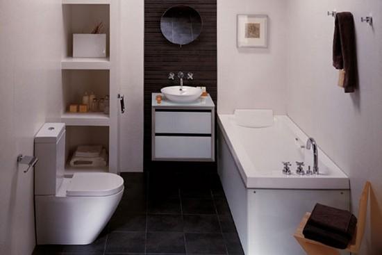 Маленькая ванная комната - дизайн интерьера с фото