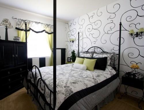 Какие подобрать обои для стен спальни - фото каталог в ...