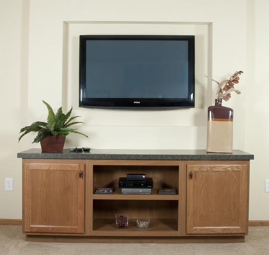 Идеи - Ниши из гипсокартона в стене под телевизор с фото