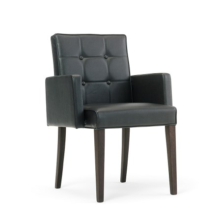 Fully upholstered Arm chair with or with out buttons