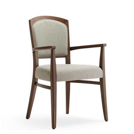 Tiffany 1P arm chair with upholstered seat and back