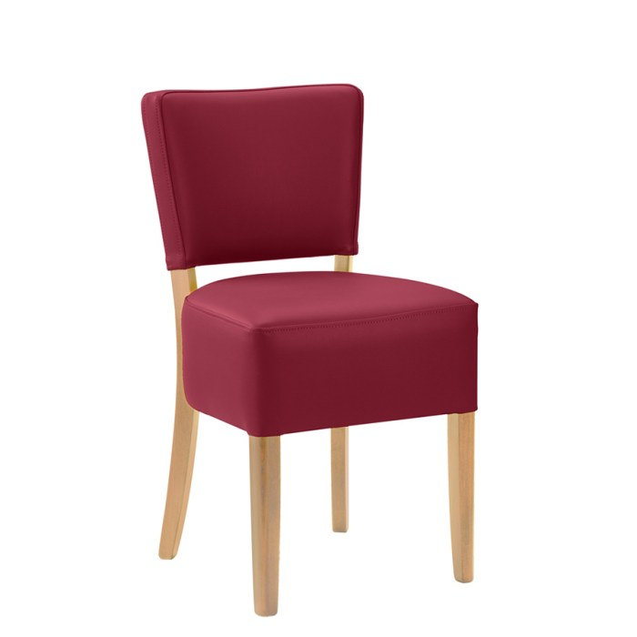 Alto Side chair with a Wine upholstery and a Dark Oak Frame
