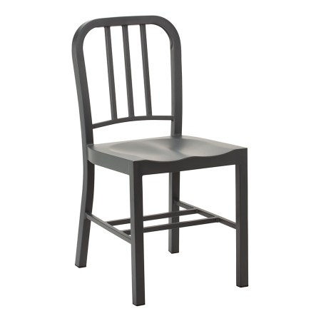 This bay side chair comes in Anthracite finished steel frame