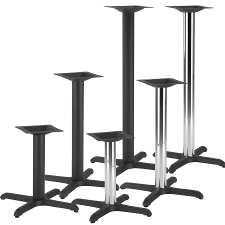 Cross Cast iron table base