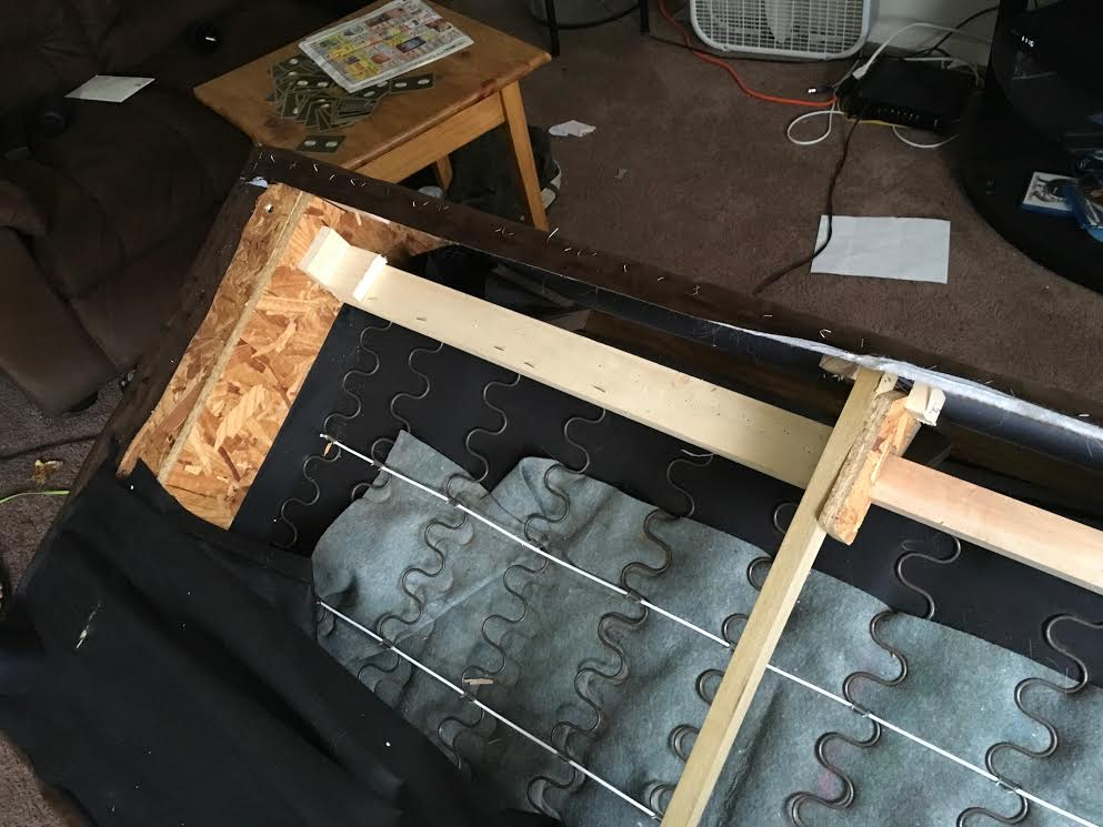 Repaired Broken Frame On Couch