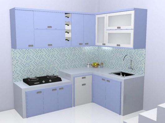 kitchen set minimalis multiplek HPL warna biru furniture semarang (2)