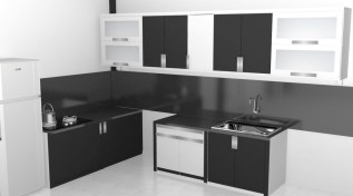 kitchen set 2 warna monokrom hitam putih furniture semarang (13)
