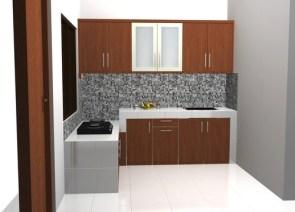 kitchen set menggantung kuat di tembok (3)