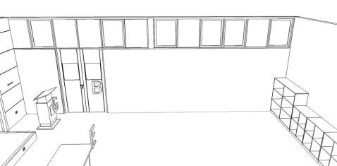 desain interior ruang kelas modern