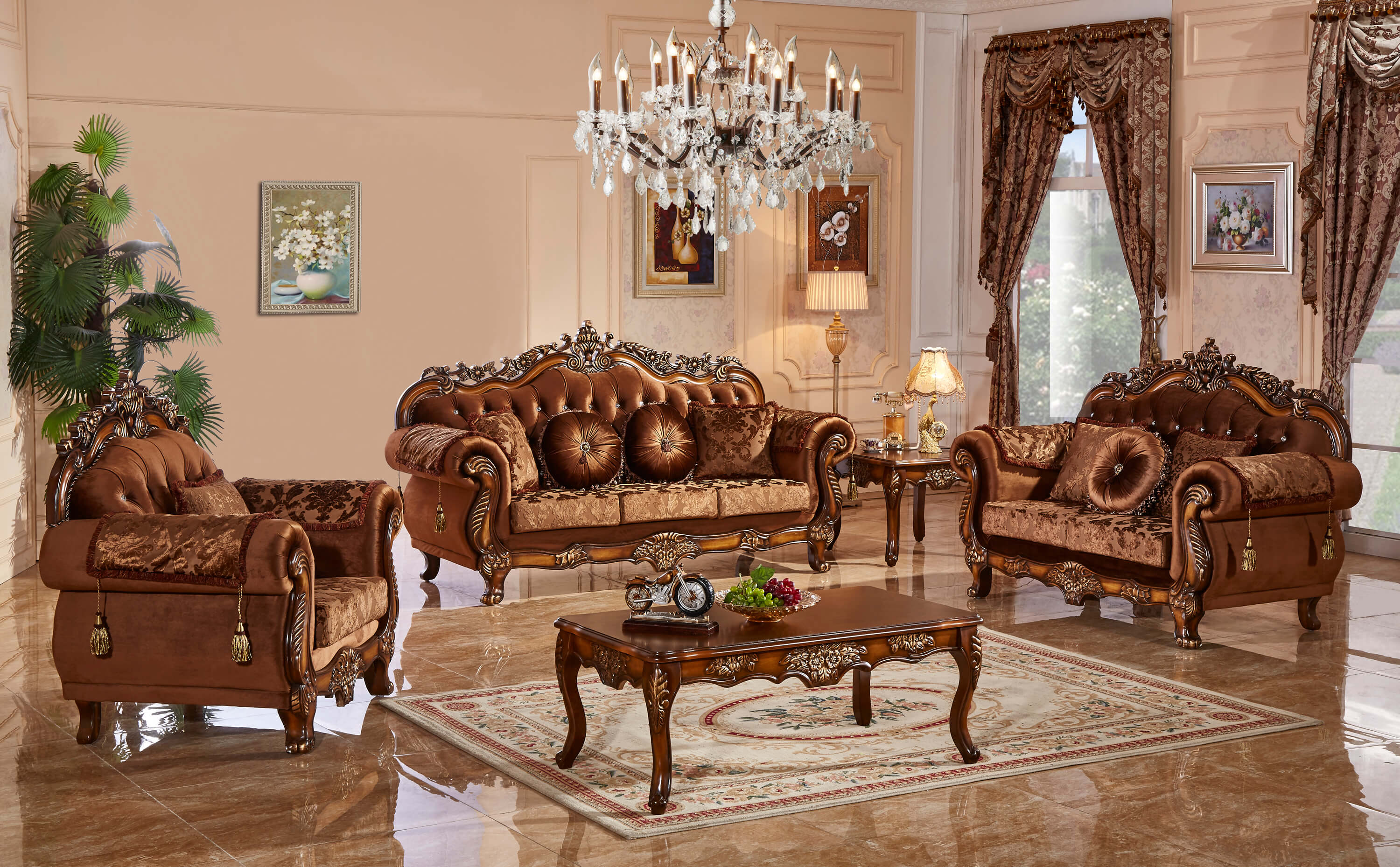 meridian furniture living room collection | fabric living room sets
