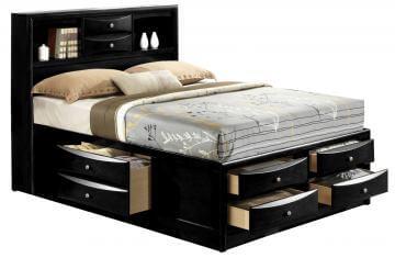 b4285 king emily black storage bed by crown mark
