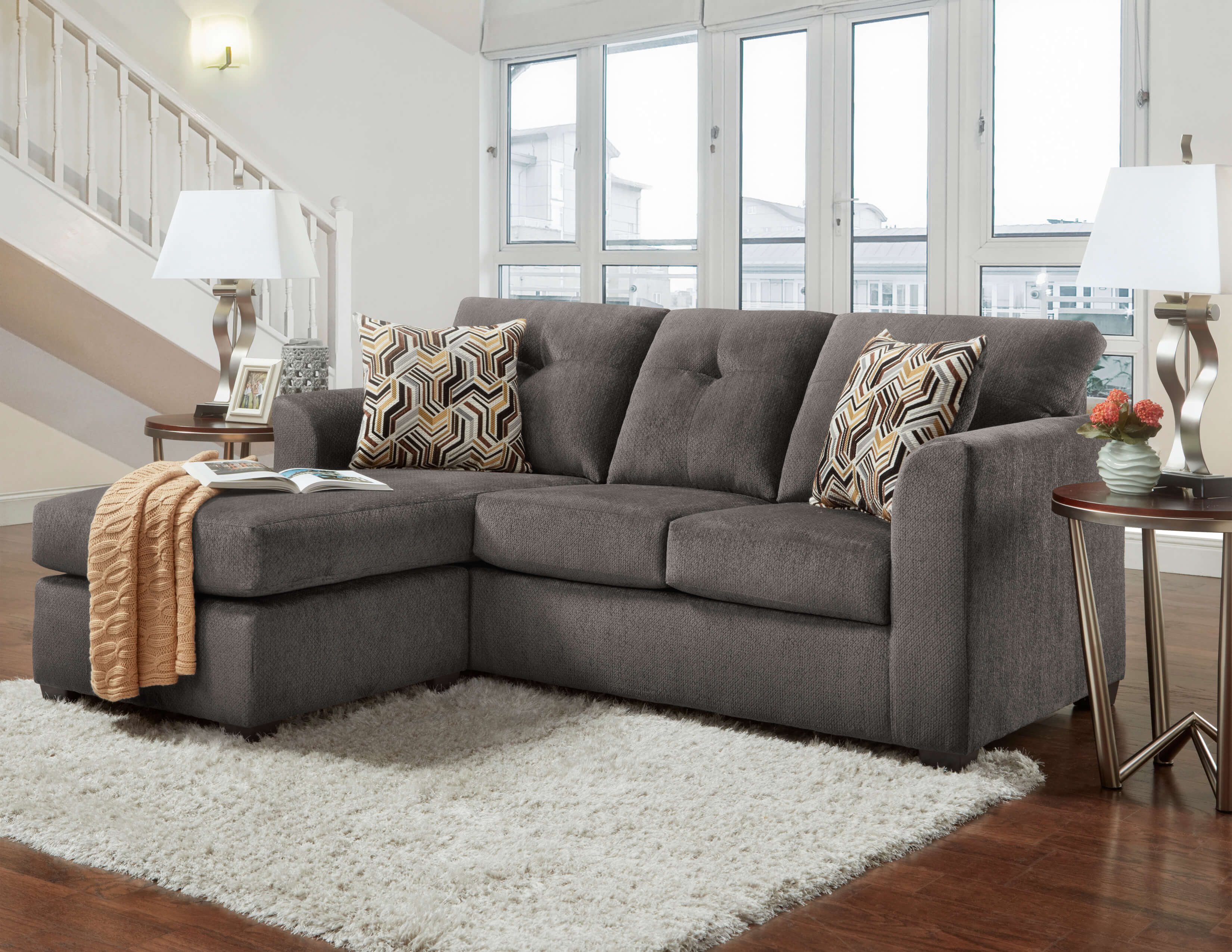 3900 kelly grey apartment sectional