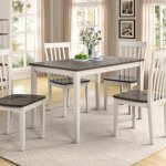 Brody White Grey Dining Room Set Dining Room Furniture