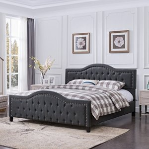 Christopher Knight Home Mason Fully-Upholstered Traditional Queen-Sized Bed