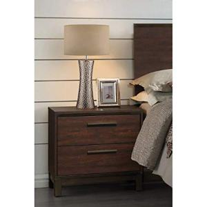 Edmonton 2-drawer Nightstand Rustic Tobacco and Dark Bronze