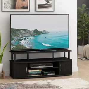 FURINNO JAYA Large Entertainment Stand for TV Up to 50 Inch, Blackwood