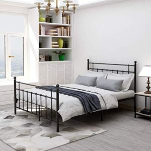 Elegant Home Products Queen Size Metal Bed Frame Platform