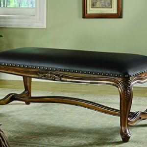 Coaster Home Furnishings Upholstered Bench Brown and Black