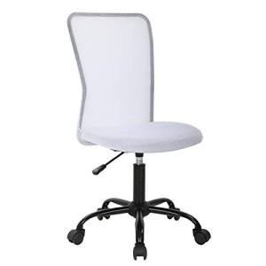 Ergonomic Office Chair Desk Chair Mesh Computer Chair Back Support Modern Executive Mid Back Rolling Swivel Chair for Women, Men (White)