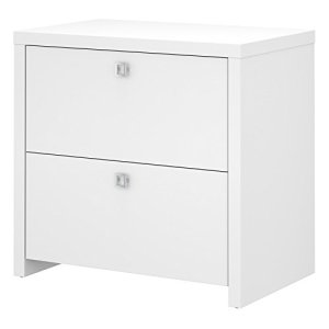Bush Business Furniture Office by kathy ireland Echo Lateral File Cabinet, Pure White