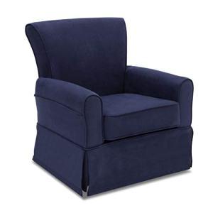 Delta Children Benbridge Glider Swivel Rocker Chair, Navy