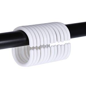 24 PCS Plastic Shower Curtain Rings Shower Curtain Hooks for Bathroom Shower Window Rod.(White)