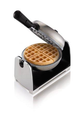 Oster Titanium Infused DuraCeramic Flip Waffle Maker, Stainless Steel (CKSTWFBF22-TECO)