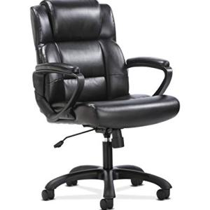 Sadie Leather Executive Computer/Office Chair with Arms - Ergonomic Swivel Chair (HVST305)