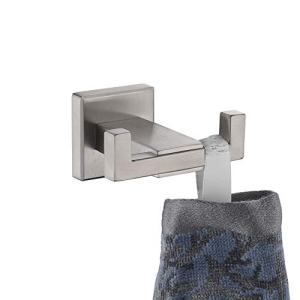 JQK Towel Hook, SUS 304 Stainless Steel Coat/Robe Clothes Hook for Bath Kitchen Garage Wall Mounted, Brushed Finish, TH200-BN