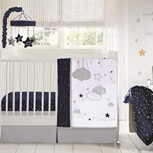 Wendy Bellissimo 4pc Nursery Bedding Baby Crib Bedding Set - Stars in Navy/Grey