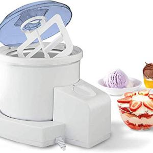 HoLead Ice Cream Machine,2 in 1 Mini Homemade Automatic Frozen Yogurt Maker,500ML, Big cup, blue