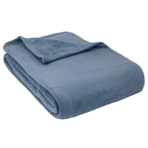 Cozy Fleece Alta Luxury Hotel Fleece Blanket, Denim, Full