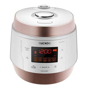 Cuckoo CMC-QSB501S, Q5 Premium 8 in 1 Multi (Pressure, Slow, Rice Cooker, Browning Fry, Steamer, Warmer, Yogurt, Soup Maker) Stainless Steel, Mad, Q50 Non-Stick Coating, GOLD/WHITE