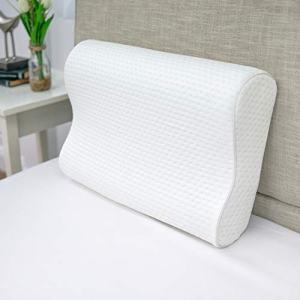 "SensorPEDIC, White Luxury Extraordinaire Contour Oversized Memory Foam Pillow with Ventilated ICOOL Technology, 1'2"" x 1'9"""