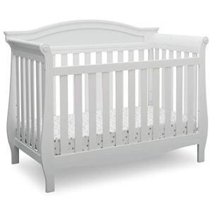 Delta Children Lancaster 4-in-1 Convertible Baby Crib, Bianca White