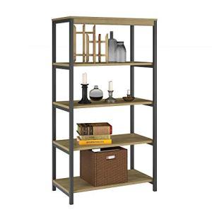 Ameriwood Home Kayden 5 Shelf Bookcase, Golden Oak