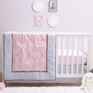 The Peanutshell Princess Crib Bedding Sets for Baby Girls | 3 Piece Nursery Set | Crib Comforter, Fitted Crib Sheet, Crib Skirt Included