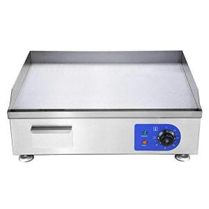 """Koval 24"""" Food Electric Griddle Countertop Grill Commercial (24"""" Stainless Steel)"""