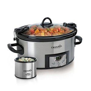 Crock pot SCCPVL619 S A 6 Quart Metallic Cooker with Hinged Lid, Black
