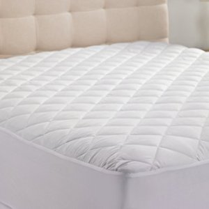 Hypoallergenic Quilted Stretch-to-Fit Mattress Pad by Hanna Kay, 10 Year Warranty-Clyne Collection (King)