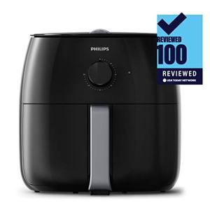 Philips Premium Airfryer XXL with Fat Removal Technology, Black, HD9630/96 The Philips Airfryer XXL is the healthiest way to fry, using little or no added oil to fry your favorite food. It's the only air fryer with fat removal technology that reduces and captures excess fat With a 3lb/4qt capacity you can now make delicious meals for up to 6 people every day. Fits a whole chicken or 2 bags of frozen french fries with results just as crispy as deep-fried The air fryer is instantly hot and ready to go in seconds, cooking 4 times faster than a conventional oven. With no preheat needed, you can save time and start cooking right away Multicooking technology: air fry, bake, grill, roast, reheat, dehydrate, and toast, all in the same device Cleaning is simple. This Philips Airfryer XXL includes dishwasher-safe removeable parts and a quick-clean basket to save you time UPC: 075020074782 EAN: 0075020074782 Package Dimensions: 17.3 x 13.4 x 16.0 inches