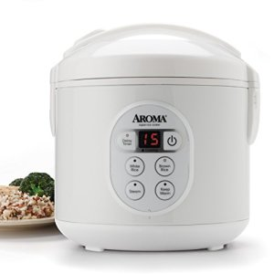 Aroma Housewares 8-Cup (Cooked) (4-Cup UNCOOKED) Digital Rice Cooker and Food Steamer (ARC-914D) (Renewed)