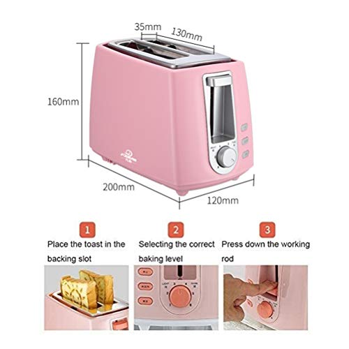 2-Slice Stainless Steel Toasters, With Cancel/Reheat/Defrost Function 2-Slice Stainless Steel Toasters, With Cancel/Reheat/Defrost Function, 6 Browning Settings, Compact Small Toaster For Bread Waffles.