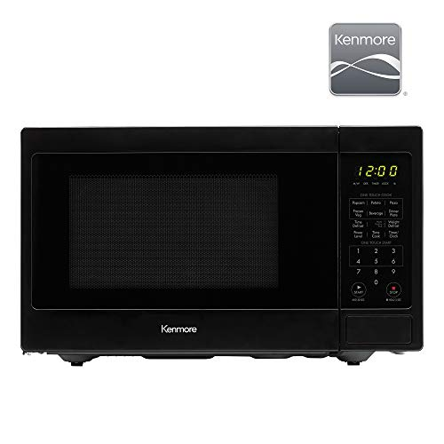 Kenmore 70929 0.9 cu. ft Small Compact 900 Watts 10 Power Settings, 12 Heating Presets, Removable Turntable, ADA Compliant Countertop Microwave, Black